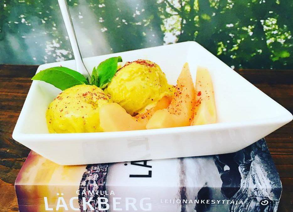 Mango-Basilikum-Sorbet mit Melone