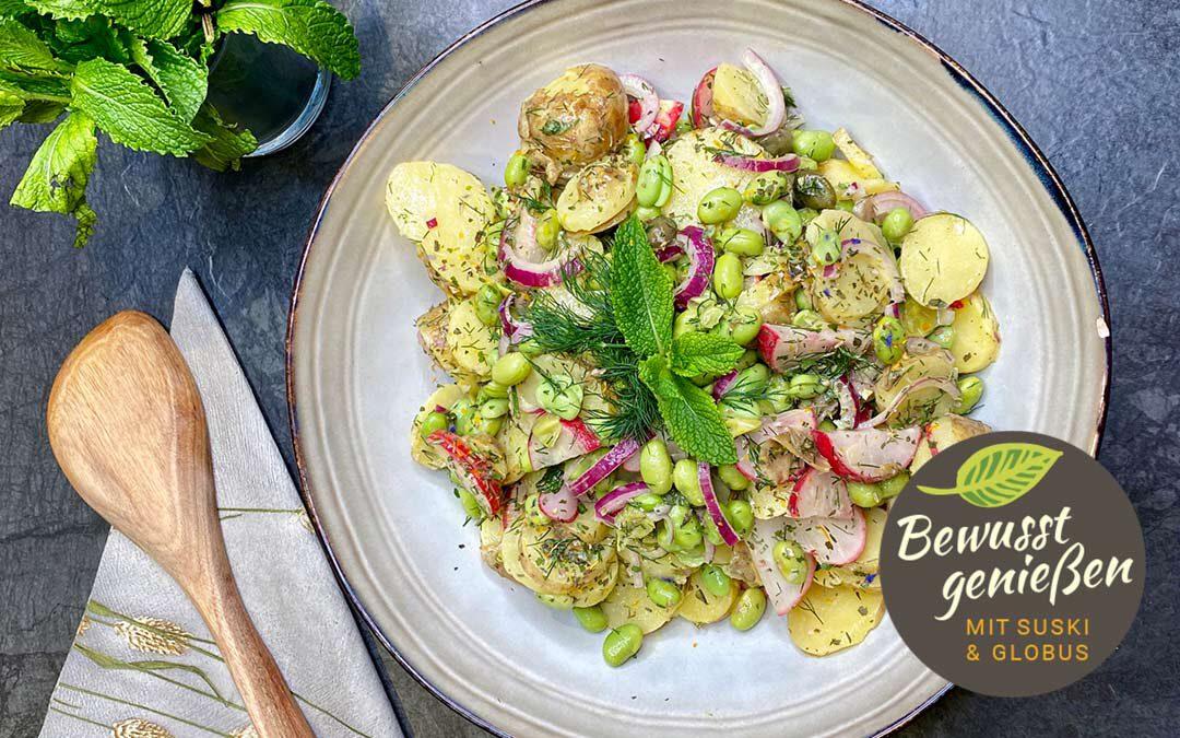 Sommerlicher Kartoffelsalat mit Edamamebohnen